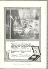 1920 ELGIN WATCH advertisement, Pocket Watch, Prehistoric Man