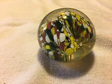 Vintage Paperweight Yellow Red Black White A beauty Lot# 0051
