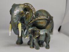 More details for elephant and calf hidden treasures trinket box