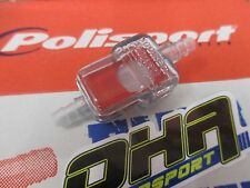 POLISPORT 6mm Inline Fuel Filter for Motocross Motorcycle Bike Enduro Trials NEW