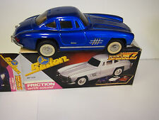 Mercedes Benz Sedan 1956 Blue Friction car with Sound With Original Box