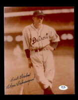 Charles Gehringer PSA DNA Coa Hand Signed 8x10 Photo Autograph