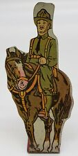 US Cavalry #5 Vintage Marx Toy Lithograph Tin Litho Army Soldier Figure
