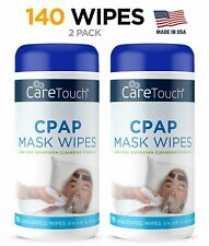 Care Touch Cpap Cleaning Mask Wipes - Unscented, Lint Free - 70 Wipes, Pack Of 2