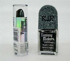 WetnWild Fantasy Makers Pearl Black Nail Color & Black Lipstick (2 piece lot)