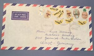 TONGA COLLECTION: Go Bananas 80s AIRMAIL To WEST GERMANY + 2 COVERS To AUSTRALIA