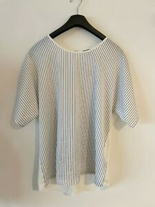 J. CREW SILKY POLYESTER TOP size LARGE BNWT
