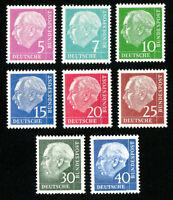 Germany Stamps VF OG NH Set of 7 Fluorescent Paper