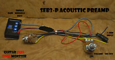 TONE MONSTER SEB3P Acoustic Preamp 3BEQ + Gain 2.5mm Piezo Transducer Input