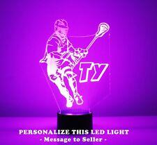 Lacrosse Night Lamp Personalized FREE - LED Light, Lacrosse Player Night Light