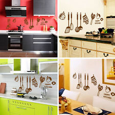 Home Decor Art Vinyl Happy Kitchen PVC Mural Decal Removable Wall Stickers Hot