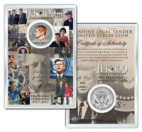 JFK100 Centennial Bday KENNEDY 2017 JFK Half Dollar Coin w/4x6 Display - Profile
