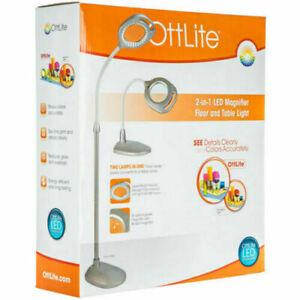 OttLite 2-in-1 Magnifier Floor & Table Light - NEW, FREE SHIPPING