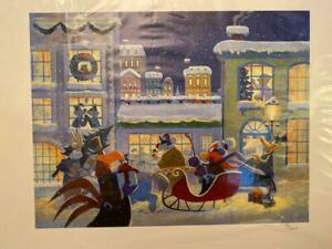 "Looney Tunes ""Tis the Season"" Christmas Scene Giclee with COA"