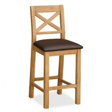 Sidmouth Oak Bar Stool - Tall Breakfast Bar Padded Seat