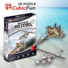 Super Military AH-1 Huey Cobra & Sukhoi SU-35: 3D Puzzle Cubic Fun  P628h