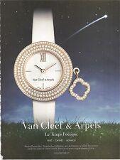 PUBLICITE 2011 Montres VAN CLEEF & ARPELS Le Temps Poétique