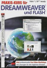 Praxis Kurs für Dreamweaver und Flash - PC DVD-ROM - Video Praxiskurs - Neu/OVP