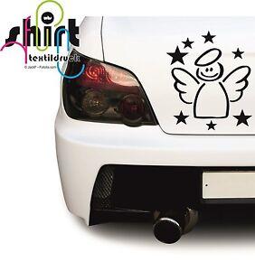 A 716 -  Schutzengel Engel Stern Autoaufkleber Aufkleber Sticker Tuning Sterne