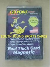 TWO (2) PRO-MOLD REAL THICK CARD MAGNETIC HOLDER - 120 PT (5 YEAR+ UV)
