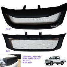 Front Grill Grille Black Net For Toyota Hilux Pickup Kun Sr5 Mk6 Vigo 04-08
