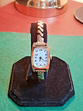 ladies vintage timex mechanical gold tone dress watch,expanding bracelet.bv.