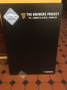 Guinness Dublin Porter Double Sided Chalk Board 84cm X 59cm