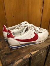 Nike Classic Cortez Premium White Trainers UK Size 8.5 EU 43 Forrest Gump Rare