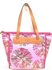 FOSSIL Women's Handbag *Keyper Shopper* Pink MultiColor Tote Shoulder Purse $98