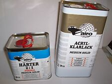2K MS Clearcoat Lacquer Pack 5lt Clear + 2.5lt Normal Hardener  (2:1)