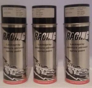 3 Dosen Auto Kwasny Racing Schwarz glänzend 3 x 400 ml