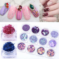Charming Nail Sequins Kit Strips Paillettes Glitter Tips DIY Decoration Stickers