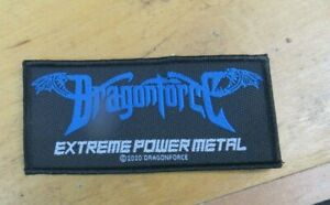 DRAGON FORCE PATCH NEW  VINTAGE  COLLECTABLE WOVEN ENGLISH IMPORT DRAGONFORCE