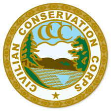 "Civilian Conservation Corps car bumper sticker window decal 4"" x 4"""
