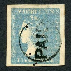 Mauritius SG44 2d Pale Dardenne (with 4 punch holes) Cat 850 pounds