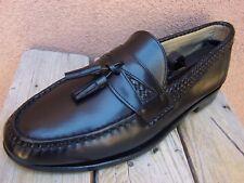ALLEN EDMONDS Mens Black Dress Shoes Classic Slip On Tassel Loafers Sz Size 11D