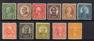 United States 1922-32 set to 10c perf 10 MH