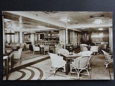 Cruise Liner P&O STRATHEDEN 1st Class Verandah Cafe c1937 RP Postcard