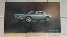 1977 Camaro Type LT Coupe Dealer card advertising chevrolet chevy lobby 77
