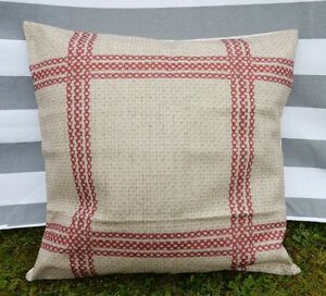 French Country Cushion Cover, Vintage, Farmhouse, Country Kitchen, Cotton Canvas