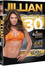 RIPPED IN 30 (Jillian Michaels) - DVD - Region Free - Sealed
