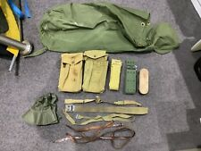 ASSORTED LOT OF MILITARY POUCHES BELTS STRAPS DUFFLE BAG HAT ETC NICE CHEAP LOT