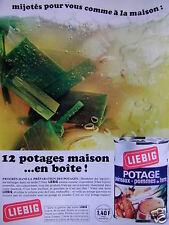PUBLICITÉ 1968 LIEBIG 12 POTAGES MAISON EN BOITE - ADVERTISING