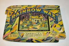 Antique Rainbow Wax Modeling Kit, Neat Graphics w/Gnomes American Art Clay Co.