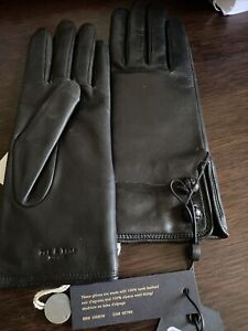 Rag And Bone Lamskin Leather Gloves Women 7 BNWT