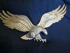 Patriotic Antique Brass Wall Hanging Eagle - made by Whitehall Products 00734