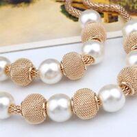 Choker Women Beads Pendant Fashion Imitation Pearl Jewelry Chain Necklace