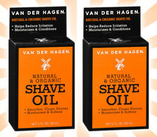 2 Van Der Hagen Natural and Organic Shave Oil for Smoother Closer Shaves 1 OZ