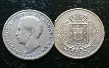 Portugal/1867 - 500 arroz/d. luis I/Silver Coin