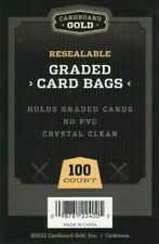 Cardboard Gold CBG Graded Card Pro Sleeves Next Generation Archival Protection Pack of 100